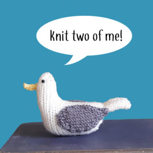 Jeff the gull knit kit